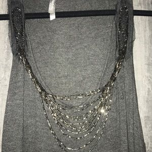 Charlotte Russe Tops - Long grey tank
